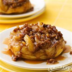 Upside-Down Caramel-Apple Biscuits from Smucker's® are a taste of fall dessert that's too good to miss!