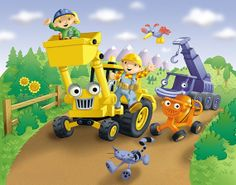 Bob the builder on pinterest bobs knitting charts and for Bob the builder wall mural