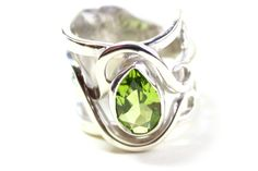 Child's Fork Ring set with a Peridot Stone  www.khazimulajewellery.com/cutlery-jewellery/