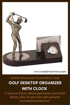 Upto 65% off This stylish #Golf Desk #Organizer is a great way to keep your desk organized  #freeshipping  http://woodartsuniverse.com/catalog/product_info.php?products_id=677