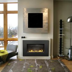 Napoleon Plazmafire Wall Hanging Fireplace with Slate Brick - Fireplaces and Inserts at Hayneedle