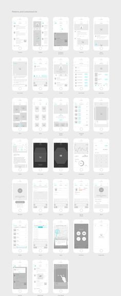 iPhone App Wireframing Kit   Mobile app  Sketches and App Kitchenware Pro  iOS Wireframe Kit