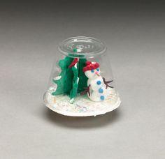 Snow Globe- Use Crayola® Model Magic to create a miniature winter scene inside a plastic cup.