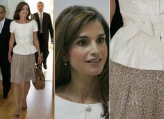 DAYWEAR - formal - this is a simple but very versatile outfit. Queen Rania wears it for an official function (maybe an open air summer business event,or perhaps at a school, healthcare centre or other non-office setting). But also consider wedding, christening, races etc.