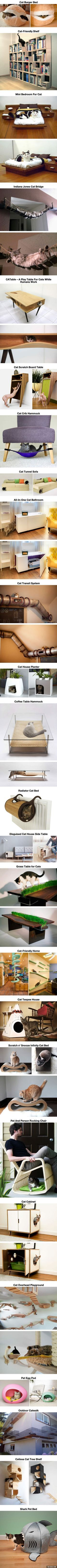 """25 meubles au design """"chats"""" pour les amoureux des chats !"""