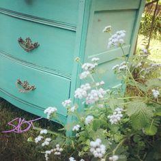 #currentproject #paintedfurniture #SunBakedTreasures #glazedfurniture #turquoise