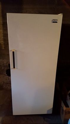 whirlpool white small size upright freezer with out handle x - Small Upright Freezer