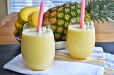 Banana-Pineapple Smoothie - Weight Watchers Recipes #weightloss