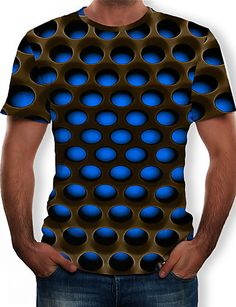 Mens Cotton T Shirts, 3d T Shirts, Casual T Shirts, Casual Tops, Printed Shirts, Men Casual, Street Chic, Tee Shirt Homme, Funny Prints