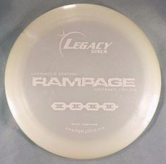 Rampage Driver 173g Legacy Discs Pinnacle Plastic White Golf Disc