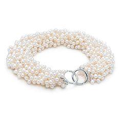 Torsade de huit rangs de perles de culture et argent Paloma Picasso(MD).