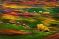 Sunset over the Palouse Hills  ~ a region of the northwestern United States, encompassing parts of southeastern Washington, north central Idaho
