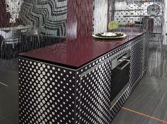Creative Counter surfaces can be a work of art.  www.ataglancedecor.com www.sharonrenshall.com