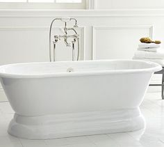 Well now I know how much this tub costs!  $5k, yikes!!!!  Porcelain Pedestal Bathtub #potterybarn