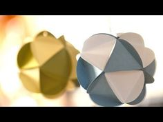 Paper Ball Ornaments - YouTube