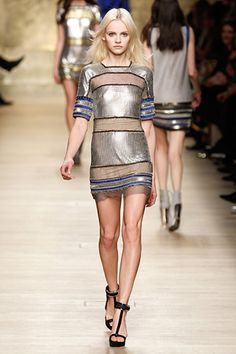 More mesh.  Which makes me think ouch, but is at the same time very cute here.  #PacoRabanne #Paris #FashionWeek