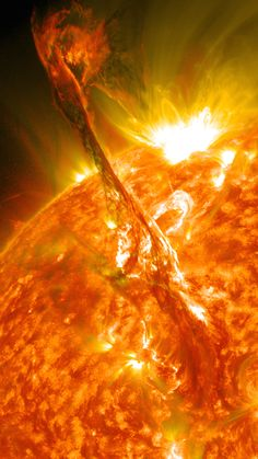 Solar Eruptions - A Coronal Mass Ejection- This particular Mass Ejection is travelingat over 900 miles per second and has an energy level equivalent to160,000,000,000 megatons of TNT: NASA/Solar Dynamics Observatory/Goddard Spaceflight Center