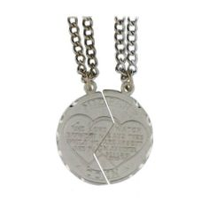 Mizpah Break Apart Coin Charm Two Steel Chain Mizpah. $8.95. Mizpah. Chain. Save 64%!
