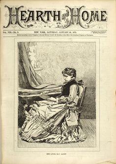 Miss Louisa May Alcott, Jan 16, 1875.