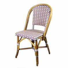 Custom French bistro chairs made for you. Pick the style, weave, colors & locations of colors in the weave and rattan wood finish. Cafe Chairs, Dining Chairs, Rattan Chairs, Wicker, Outdoor Cafe, Outdoor Chairs, French Bistro Chairs, Soft Chair, Cafe Bistro