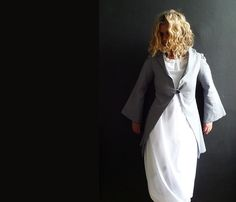 Light Blue Linen Jacket by 13threads on Etsy, £126.00