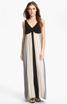 Wardrobe Inspiration - Calvin Klein Colorblock Jersey Maxi Dress. Nordstrom.