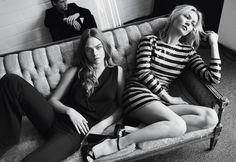 Kate Moss & Cara Delevingne protagonizam campanha 'evening' para a Mango . Visite o SimplesModa, um blog e revista de moda em Português.