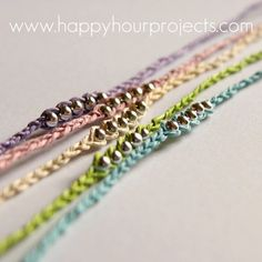 DIY: wish bracelets