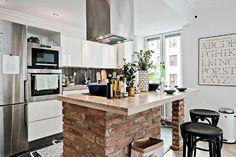 small Scandinavian apartment interior design 42 square meters 5
