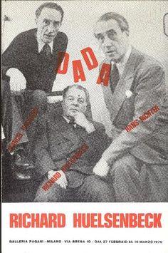 Richard Huelsenbeck. Dada. Milano, Galleria Pagani, 1970. Catalogo di mostra, Milano, 27 febbraio - 16 marzo 1970. Testo di Huelsenbeck