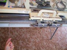 machine knitting simple cast on 2