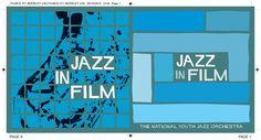 Jazz In Film CD booklet cover spread. Client: Silva Screen Records. Circa 2003. © Sean Mowle.