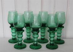 Sju klassiska remmare / vinglas - TRELLEBORG på Tradera.com - Vinglas - Höjd: ca 20 cm, diameter: ca 5 cm