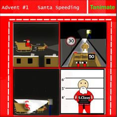 In this web comic, Santa gets caught speeding and suffers the consequences