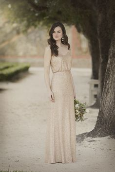 pale gold gown
