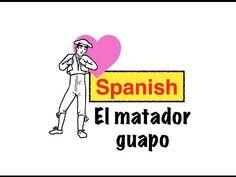"El matador guapo is a short video/illustrated story that first year Spanish students can easily grasp. It has some ""love vocab"" such as: te amo, mi amor, le da un beso...as well as ""bullfighting vocab"" such as: Traje de luces, la plaza de toros, el matador, el toro......"