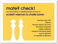 chess themed wedding invitation - Google Search - I will have to use different colors...
