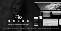 DONDO – Model & Agency Portfolio WP Theme . When it comes to performance DONDO Model Agency Wp Theme delivers like nothing else. Packed with premium plugins like the Revolution Slider and Visual Composer nothing stands in your way creating an awesome one page or multi page website.