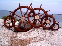 Ship Wheels, Nautical Decor, Nautical Gifts by Seaside Treasures.