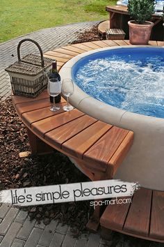 One in ten people are going home to warm and relaxing hot tubs in their own garden these days, and there is no reason you shouldn't be one of those people. garden hot tubs Creating a Luxury Hot Tub Area in your Garden - by GuestAuthor Hot Tub Gazebo, Hot Tub Garden, Hot Tub Backyard, Garden Gazebo, Backyard Patio, Garden Pond, Jacuzzi Outdoor Hot Tubs, Easy Garden, Yard Landscaping