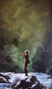 fly fishing painting - Google Search