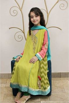 Birthday Silk Dresses for Little Kids in Pakistan