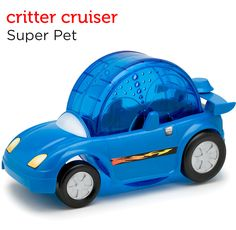 An exciting pet-powered exercise car for hamsters, gerbils, and mice from Petco's Holiday Gift Guide.