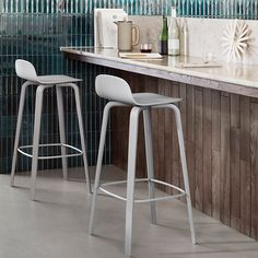 The Visu Bar/Counter Stool is a natural continuation of the Visu chair family. This inspired design was created with a specific purpose: to produce a simple and elegant stool with great comfort.