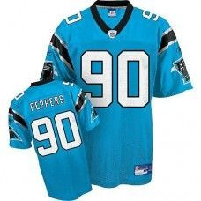 a9c5e8a39 Panthers  90 Julius Peppers Blue Stitched NFL Jersey Air Jordan