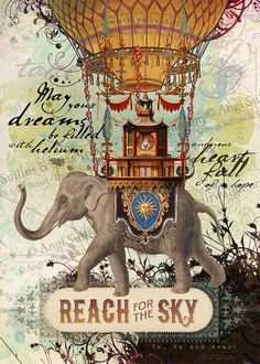 Hey, I found this really awesome Etsy listing at https://www.etsy.com/listing/156095601/reach-for-the-sky-elephant-mouse-print