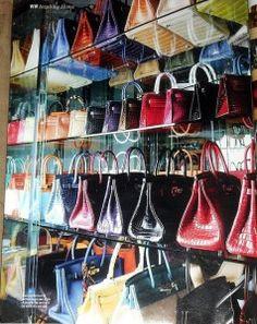 Socialite Jamie Cuaca's collection of Hermes Birkin bags