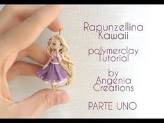 Rapunzel Chibi polymer clay charm tutorial Part 1