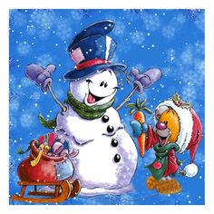 2X 5D Diy Diamond Painting Cross Stitch Christmas snowman 5D Diamond Mosaic D T1
