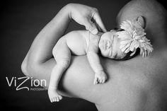 Cute picture for newborn and daddy